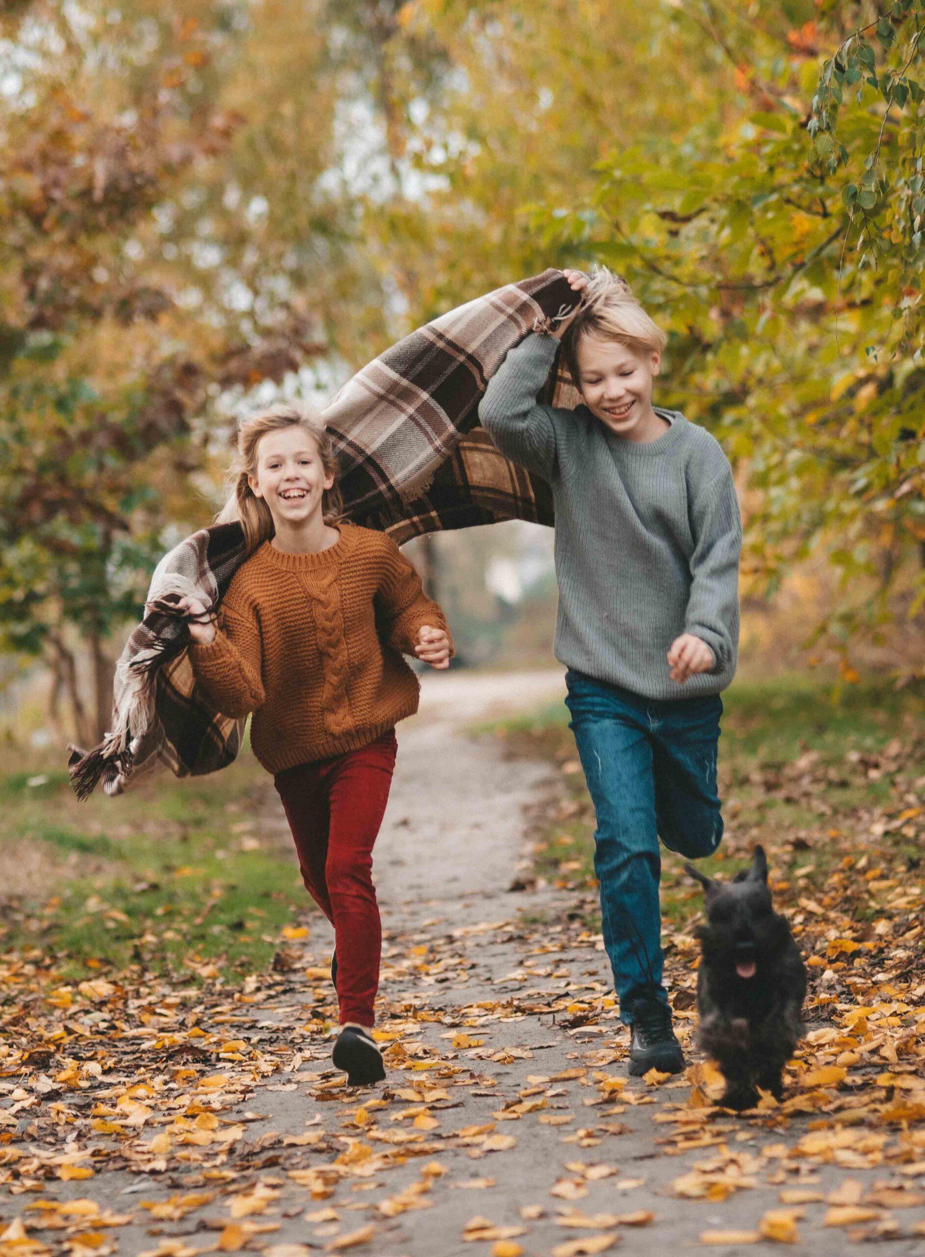 kinderen rennend